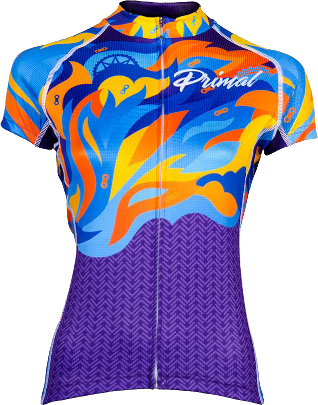 Primal Women's Fierce Evo Jersey Multicolor Flame | Jerseys