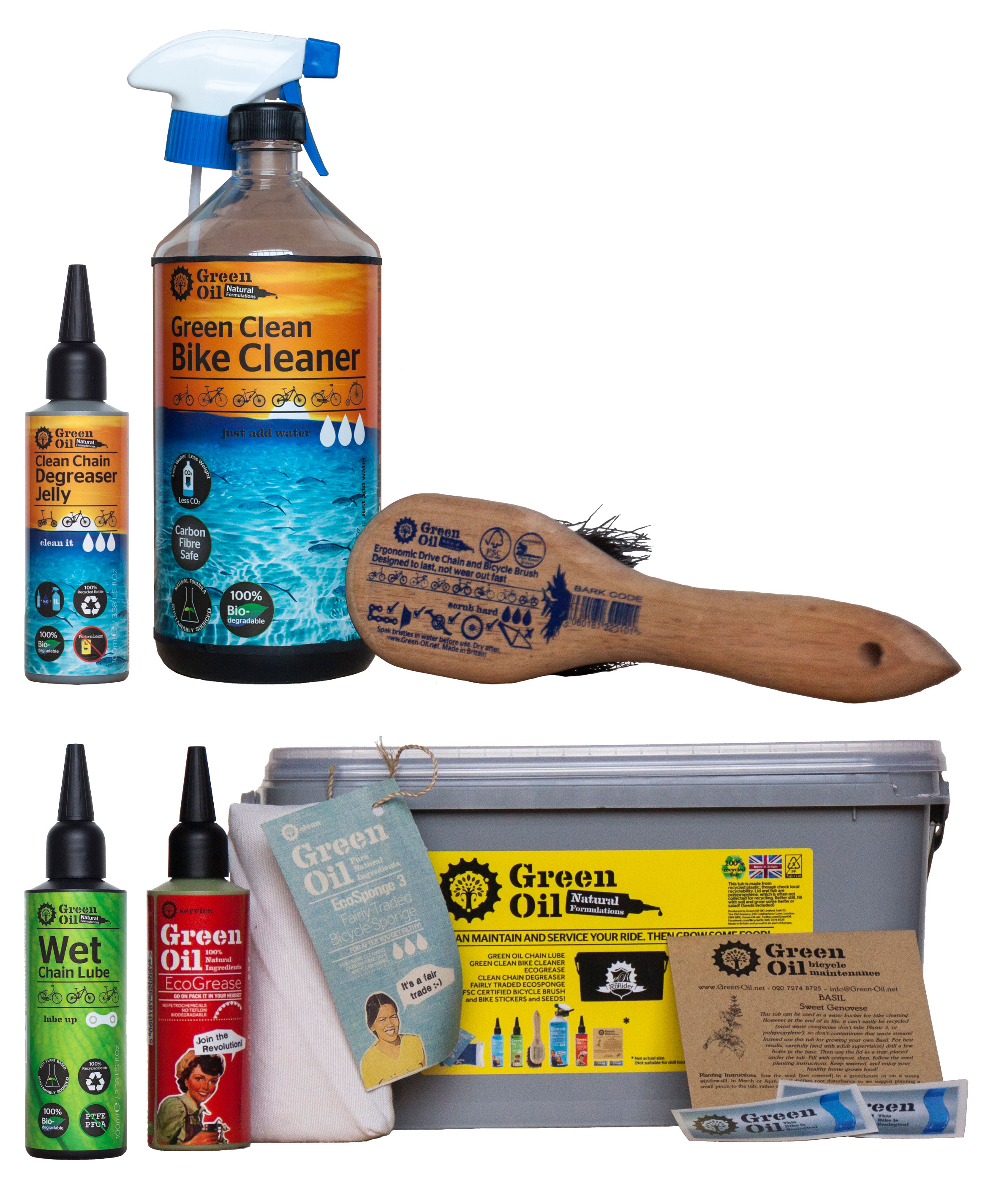 Green Oil Eco Rider Deluxe Maintenance Kit | polish_and_lubricant_component