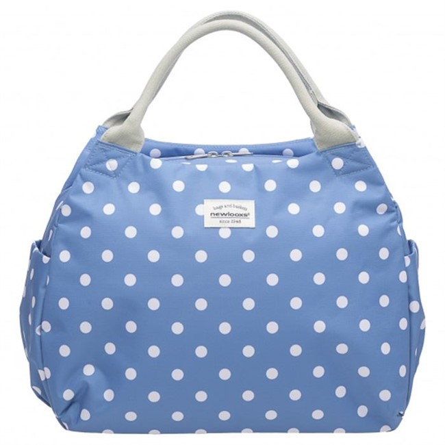 New Looxs Tosca cykeltaske - Polka River Blue. | Rack bags
